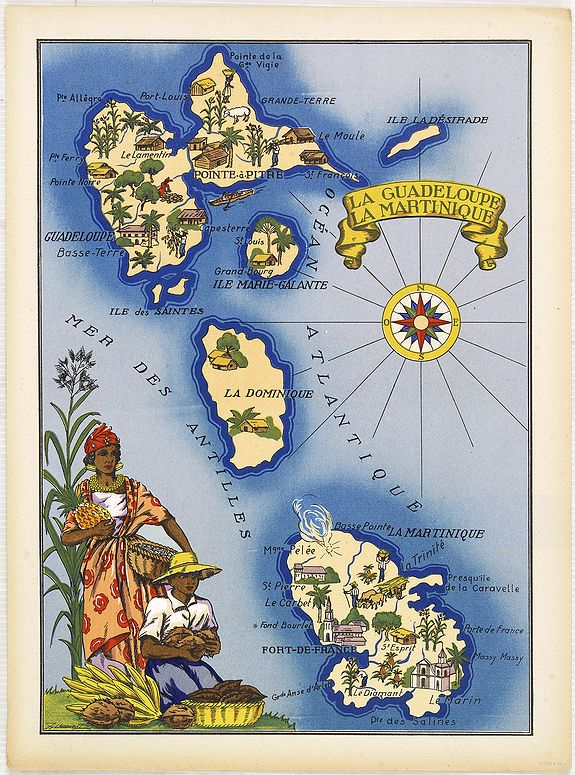 La Map Martinique Guadeloupe. Wiring. Get Free Images About World Maps