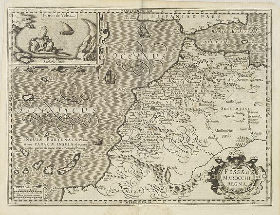HONDIUS, J. -  Fessae et Marocchi Regna.