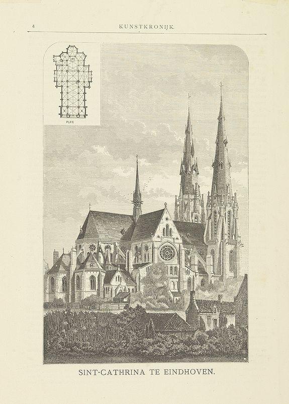 HODGKIN, W.E. -  Sint-Catharinakerk te Eindhoven [with plan]