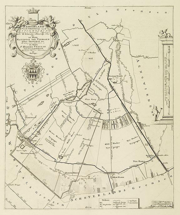 SCHOTANUS, B. -  Haskerland de vierde Grietenije van de Zevenwolden . . .