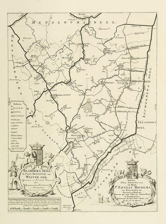 SCHOTANUS, B. -  Baardera deel der Vierde Grietenije van Wester goo.