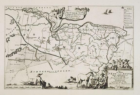 SCHOTANUS, B. -  Kollumer land En het Nieuw Kruys land de vijfde gritenije van Oostergoo . . .
