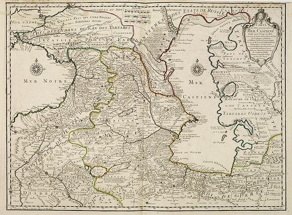 DE L'ISLE, G. -  Carte des Pays Voisins de la Mer Caspiene dressee pour l' usage du Roy. . .