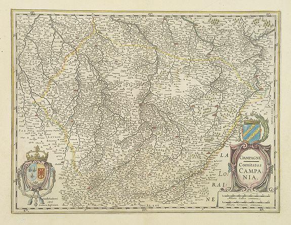 JANSSONIUS, J. -  Champagne Comitatus Campania.