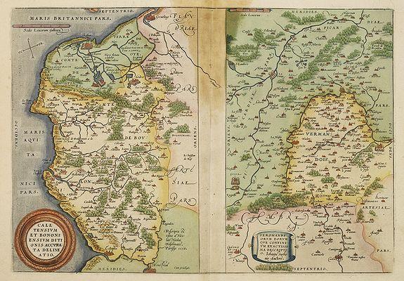 ORTELIUS, A. -  Caletensium et Bononiensium.. - Veromandorum. . .