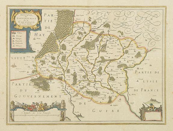 JANSSONIUS, J. -  Description du Gouvernement de la CAPPELLE. Par P. Petit Bourbon.