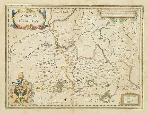 HONDIUS, H. -  L'Archevesche de CAMBRAY.