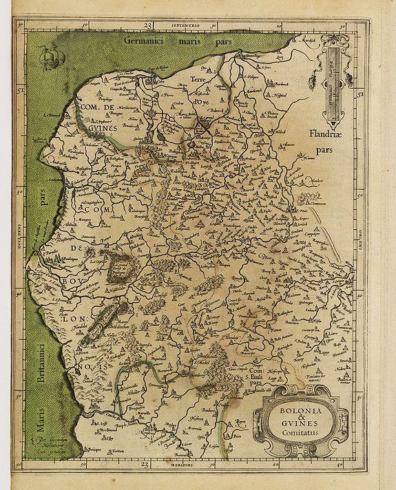 MERCATOR, G. / HONDIUS, J. -  Boloniae & Guines comitatus.