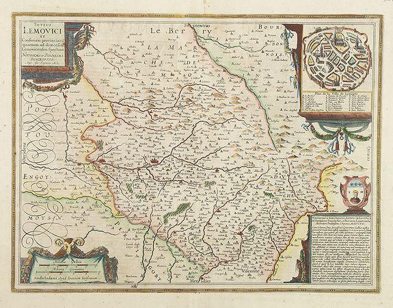 JANSSONIUS, J. -  Totius Lemovici et Confinium provinciaru. . .