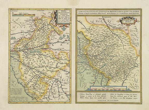 ORTELIUS, A. -  Blaisois Blesiensis Territorii. . .  [together with] - Lemovicum totius et confinium provinciarum. . .