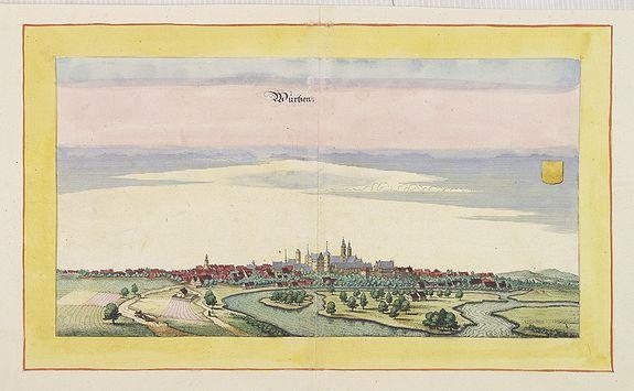 BEEK, A. / MERIAN, C. -  Wurtzen a.d. Mulde, near Leipzig.