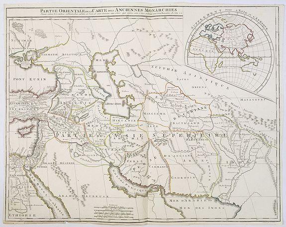 VAUGONDY, G. / DELAMARCHE, F. / DIEN, Ch. -  Partie Orientale de la Carte des Anciennes Monarchies. . .