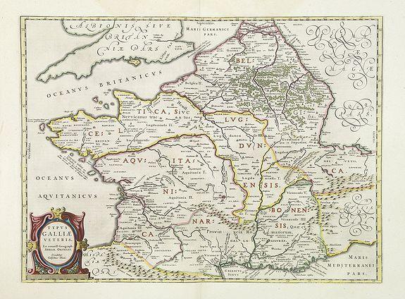 BLAEU, W. -  Typus Galliae Veteris, Ex conatib' Geograph. Abrah.Ortelii.