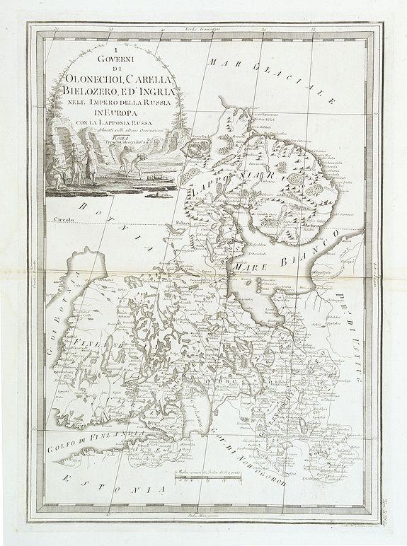 CASSINI, G-M. -  I Governi di Olonechoi, Carella, Bielozero, e'd Ingria nell Impero della Russia in Europa con la Lapponia Russa. . .
