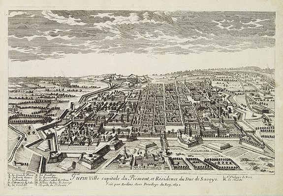 AVELINE, P.A. -  Turin ville capitale du Piémont, et Résidence du Duc de Savoye. . .