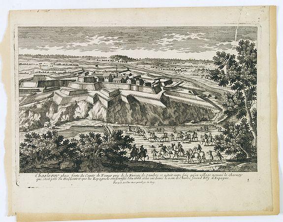 AVELINE, P.A. -  Charleroy place forte du Comte de Namur pres de la Riviere de Sambre. . .
