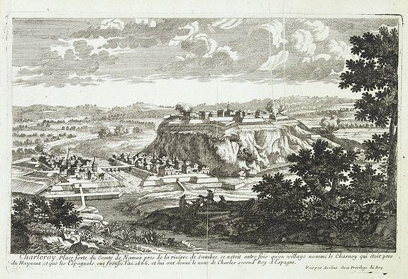 AVELINE, P.A. -  Charleroy place forte du Comte de Namur. . .