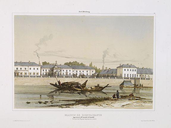 BOURDIN, E. -  Saint Petersbourg. Maison de bienfaisance, appartenant à Mr Anatole de Demidoff. . .