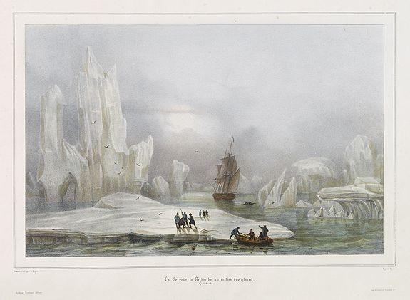 GAIMARD, P. -  La Corvette la recherche au milieu des glaces.