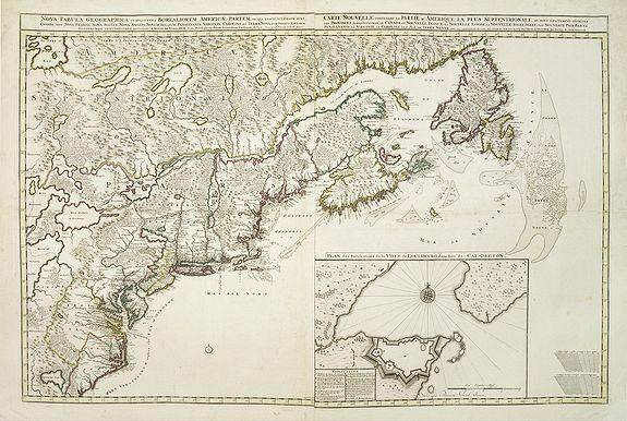 VISSCHER, N. / SCHENK,P. -  Nova tabula geographica complectens borealiorem..