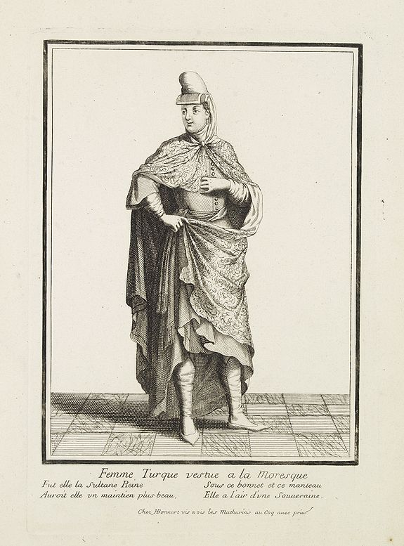 BONNART, H. -  Femme Turque vestue a la moresque.