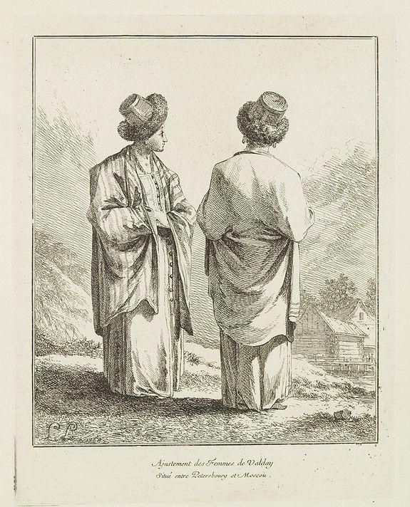 LE PRINCE, J. B. -  Ajustement des Femmes de Valday Situé entre Petersbourg et Moscou.