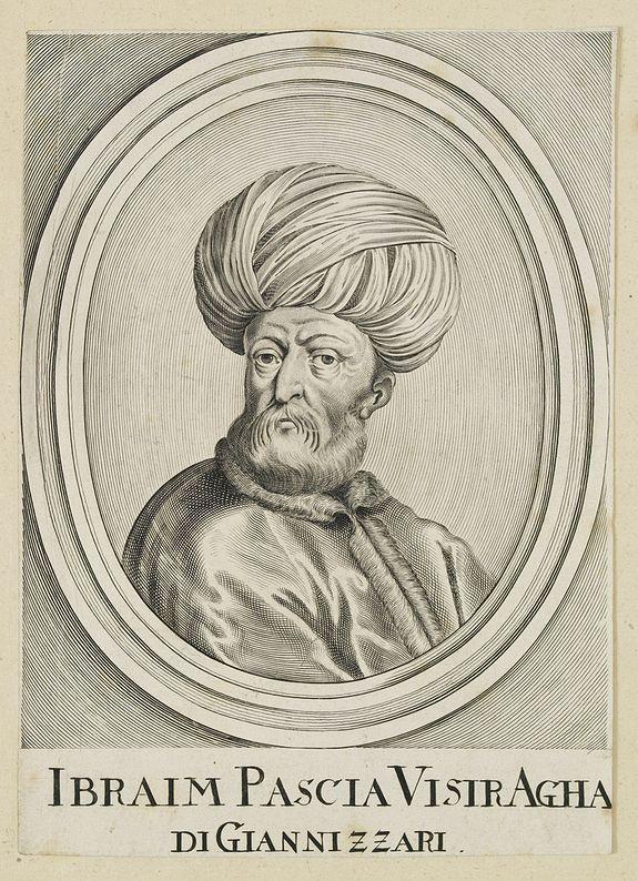 BONNART, H. -  Ibraim Pascia Visiragha di Giannizzari. (Portrait of Ibrahim Pasha)