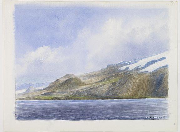 DE BOUNGNE, F. -  Group of 21 watercolours of scenes in Iceland, included are vulcanos like Eyjafjallajokull, Öræfajökull, etc.