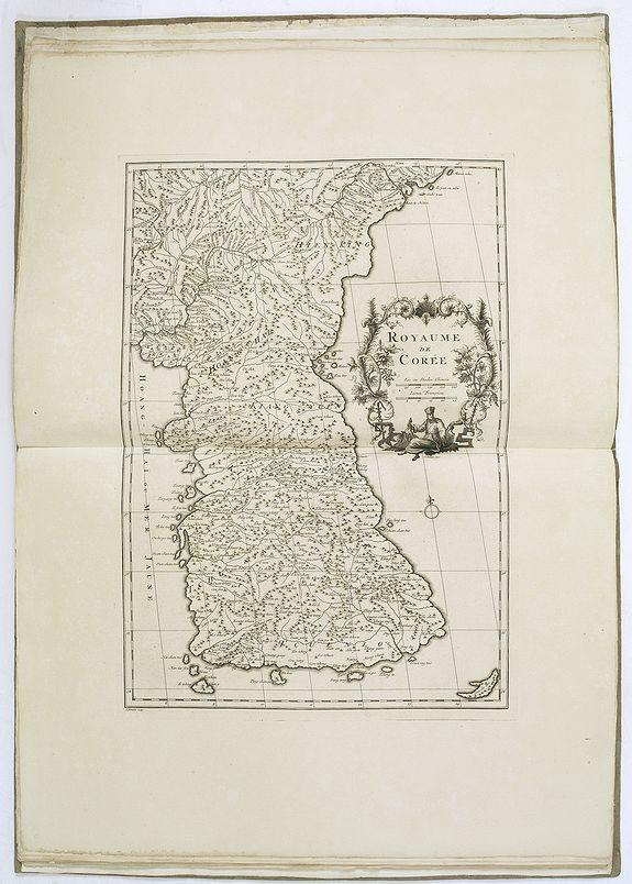 DU HALDE, J.-B. / D'ANVILLE, J.B. -  Nouvel atlas de la Chine, de la Tartarie chinoise, et du Thibet.