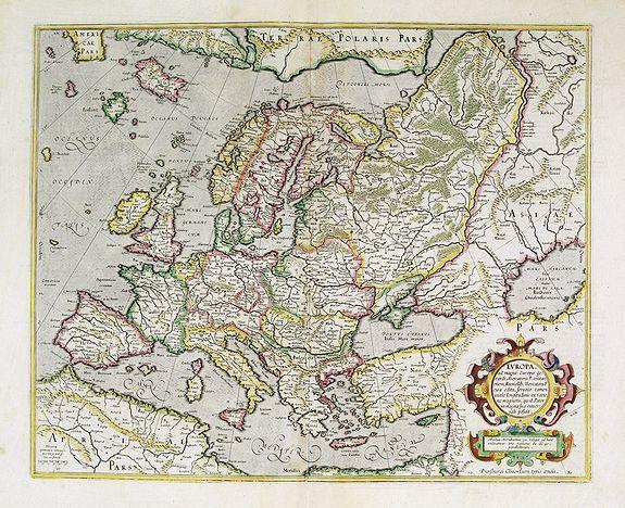 MERCATOR, G. / HONDIUS, J. -  Europa, ad magnae Europae Gerardi Mercatoris. . .