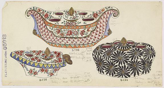 Gabriel FOURMAINTRAUX / DESVRES -  Design for Porcelain bowls.