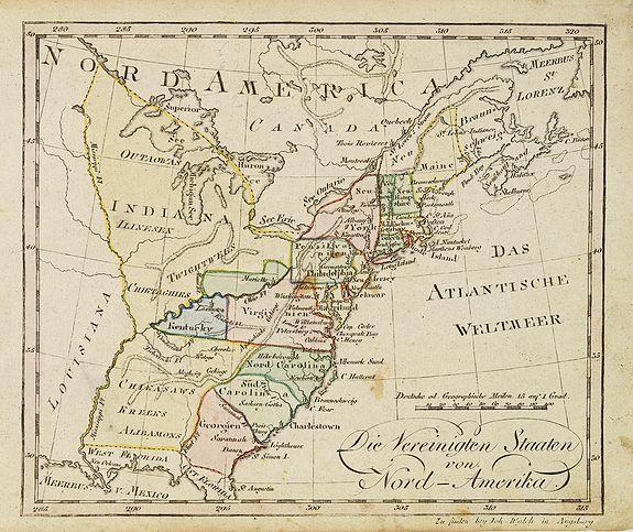 WALCH, J. -  Die Vereinigten Staaten von Nord-Amerika.