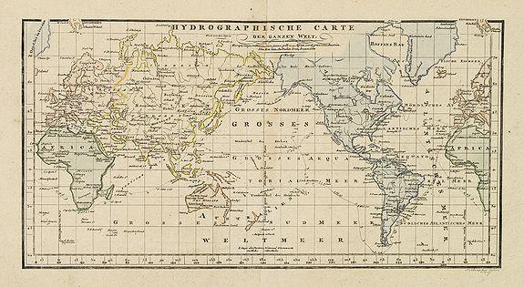 CHAMPION, J.N. -  Hydrographische carte der ganzen Welt.