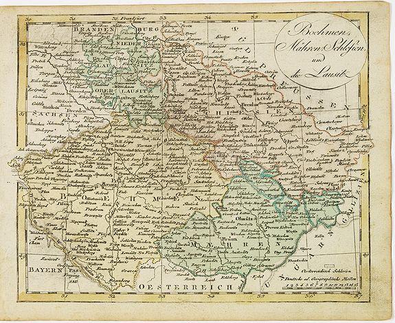 WALCH, J. -  Boehmen, Mähren, Schliesien und die Lausitz.