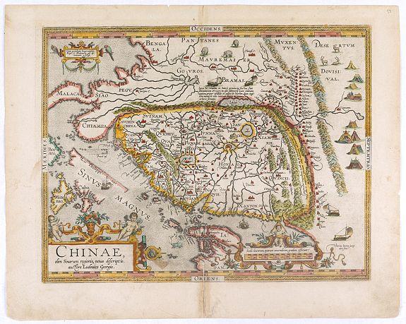 ORTELIUS, A. -  Chinae, olim Sinarum regionis. . .