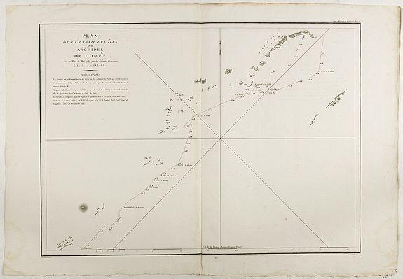 LA PEROUSE, J.F.G. -  Plan de la partie des Isles ou Archipel de Corée.