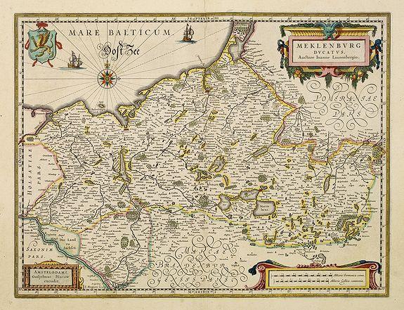BLAEU, W. -  Meklenburg Ducatus.