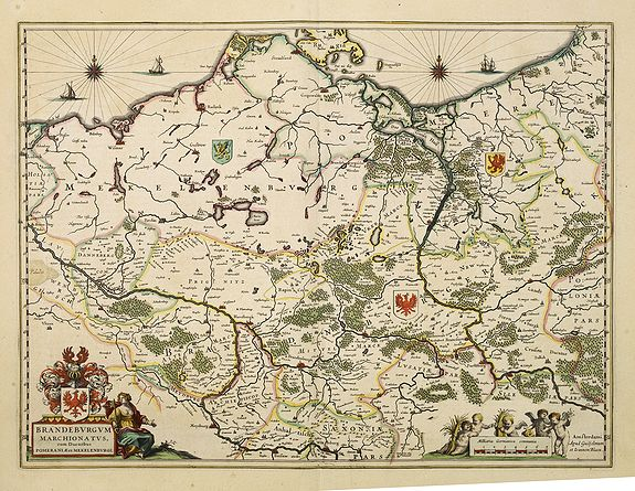 BLAEU, W.,  Brandeburgum Marchionatus. . ., antique map, old maps