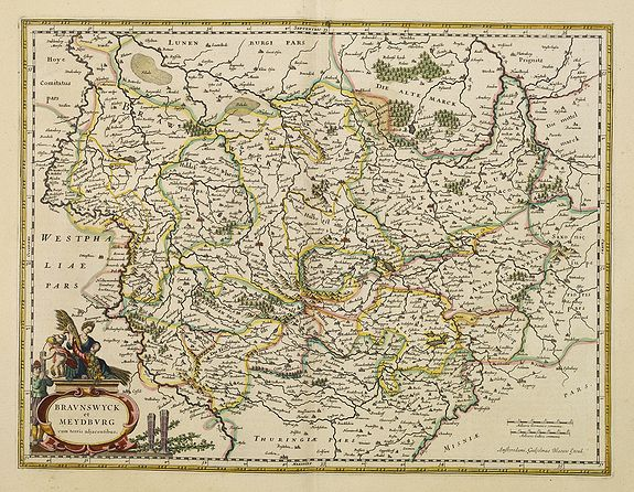 BLAEU, W.,  Bravnswyck et Meydburg. . ., antique map, old maps