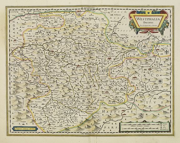 BLAEU, J.,  Westphalia Ducatus., antique map, old maps