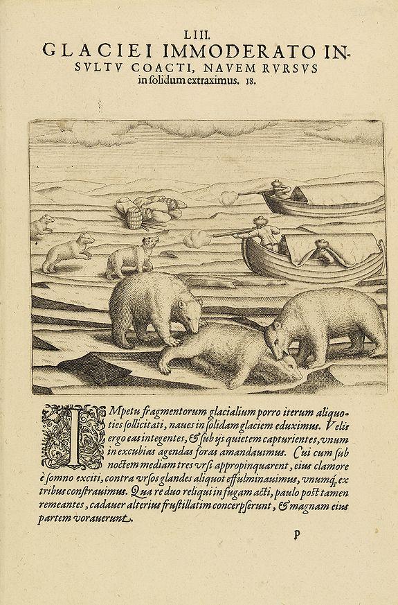 DE BRY, Th. - The third Dutch artic voyage by W.Barentsz.