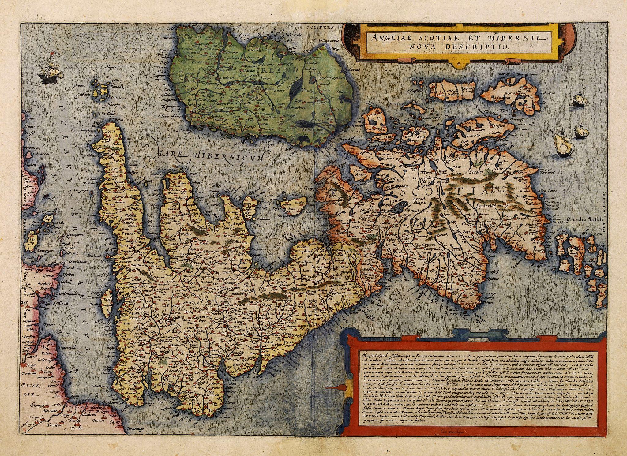DE JODE, G. -  Angliae, Scotiae et Hibernie Nova Descriptio.
