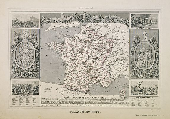 LEVASSEUR, V. -  France en 1850.