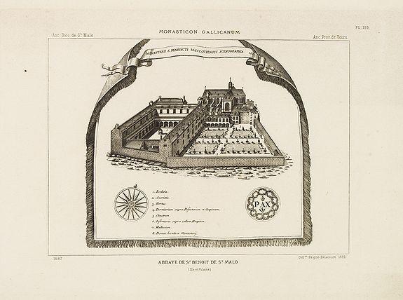 PEIGNE-DELACOURT, A. -  Abbaye de St Benoit de St. Malo.