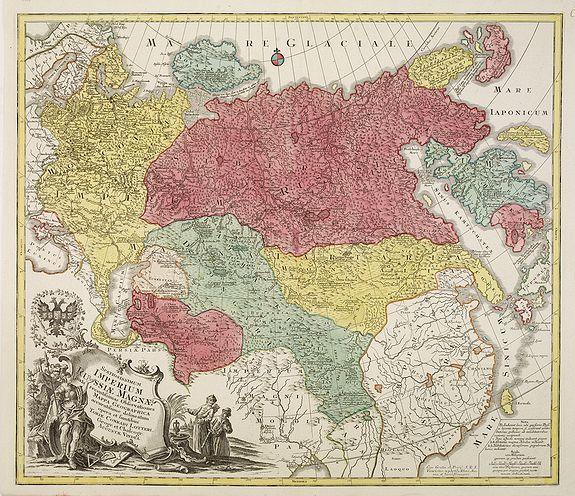 LOTTER, T. C. -  Spatiosissimum Imperium Russiae Magnae juxta recentissimas Observationes Mappa Geographica . . .