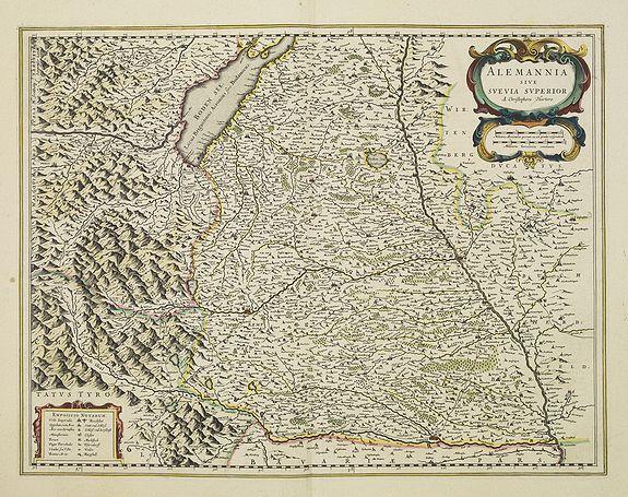 BLAEU,W. -  Alemannia sive Suevia Superior.