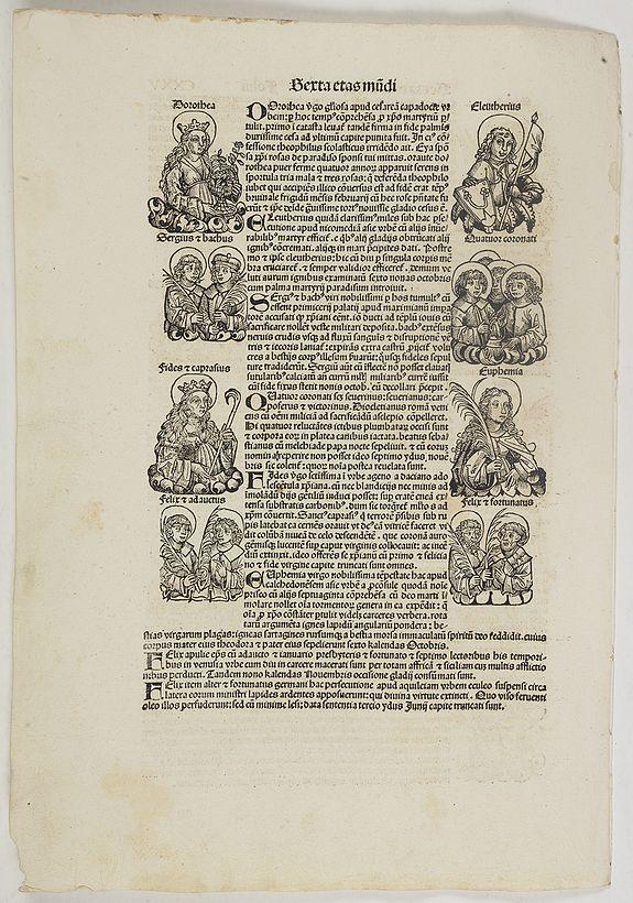 SCHEDEL, H. -  Sexta Etas Mundi. Folium. CXXV
