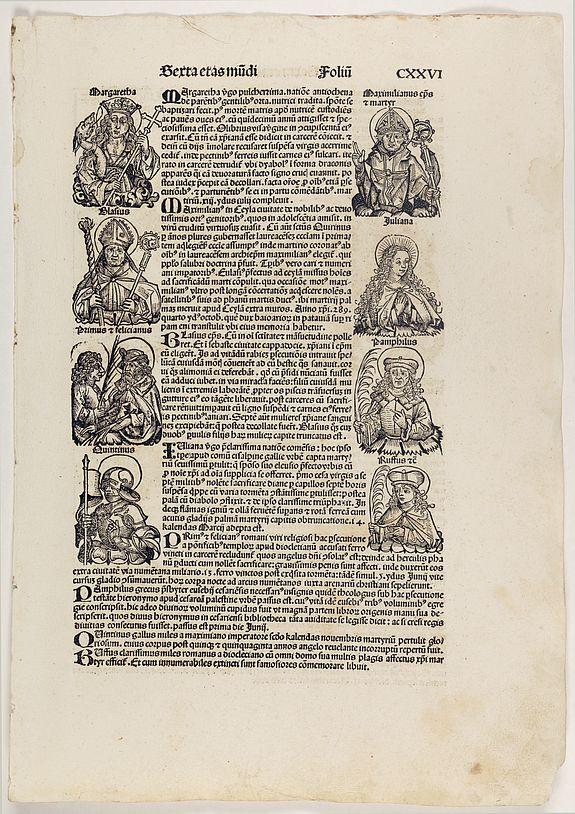 SCHEDEL, H. -  Sexta Etas Mundi. Folium. CXXVI