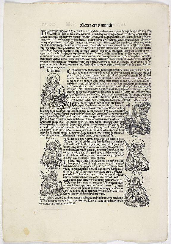 SCHEDEL, H. -  Sexta Etas Mundi. Folium. CXXVII
