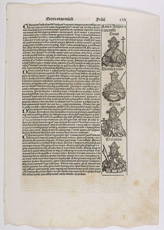 SCHEDEL, H. -  Sexta Etas Mundi. Folium. CIX